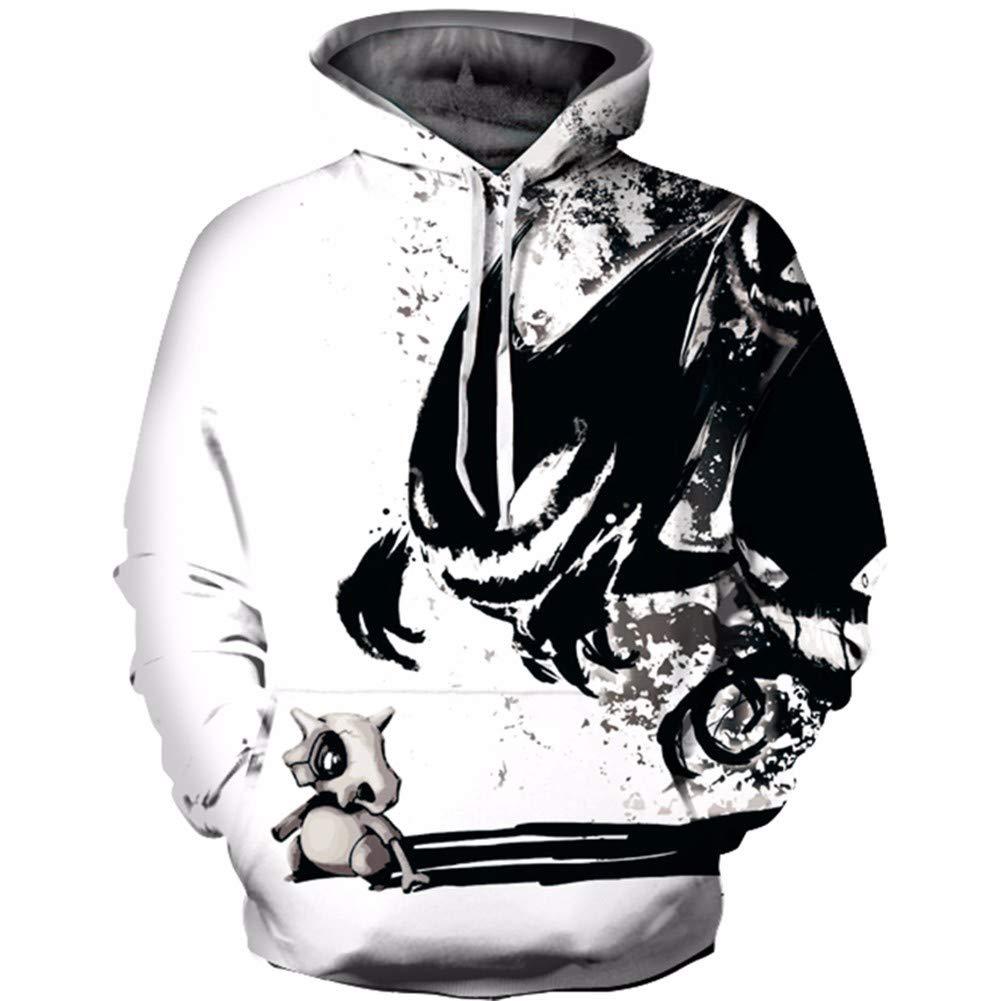 LXJ 3D-Pullover 2018 Herbst langärmeliges Hemd 3D-Effekt Tier lose große Größe mit Kapuze Pullover Student Hip-Hop-Liebhaber cool
