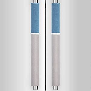 MRKG. Refrigerator Door Handle Covers, Keep Your Kitchen Appliance Clean from Smudges, Drips, Food Stains, Oil, Washable without Fading or Cracking.(Gray&Blue, 2pcs)