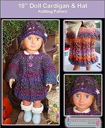Amazon 18 Doll Cardigan Hat Knitting Pattern Ebook Lisa