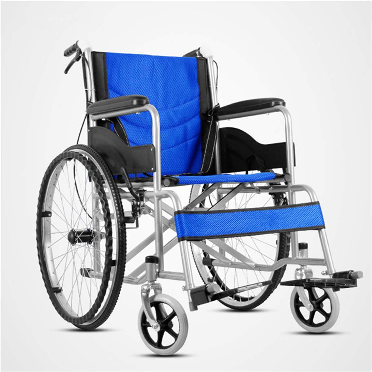 自走用車いす 介助型車いす 通気性 車椅子 介助式 パンク防止 通気性 超軽量 介助式 ポータブル ポータブル 折り畳み 旅行用 外出用 コンパクト ブルー B07PRT21G7, OAマウス:aa6d8f20 --- itxassou.fr
