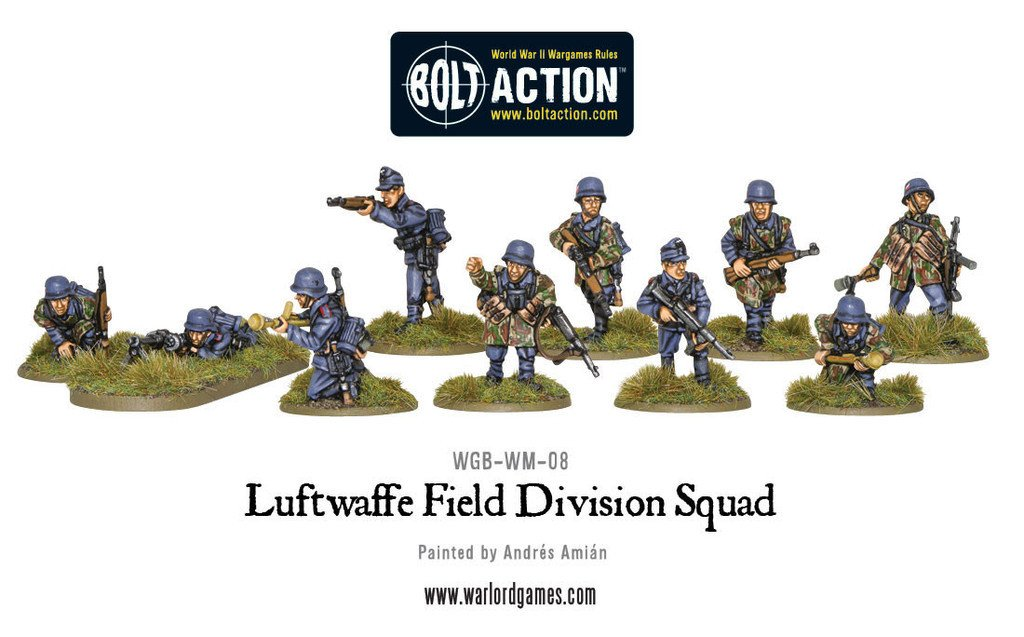 Bolt Action Nr21 Warlord Games Luftwaffe Field Divison Squad