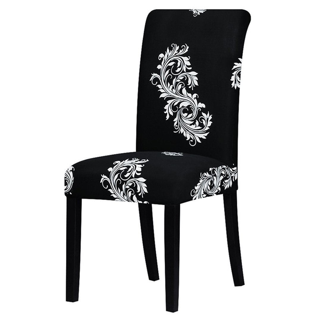 Chair Cover Printing Zebra Stretch Big Elastic Seat Painting Slipcovers Restaurant Banquet Hotel Home Decoration black and white Universal size