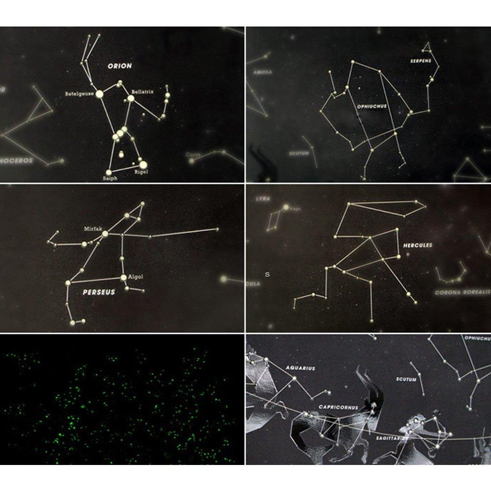 amazon com queenfashion star map glow in the darkness night sky