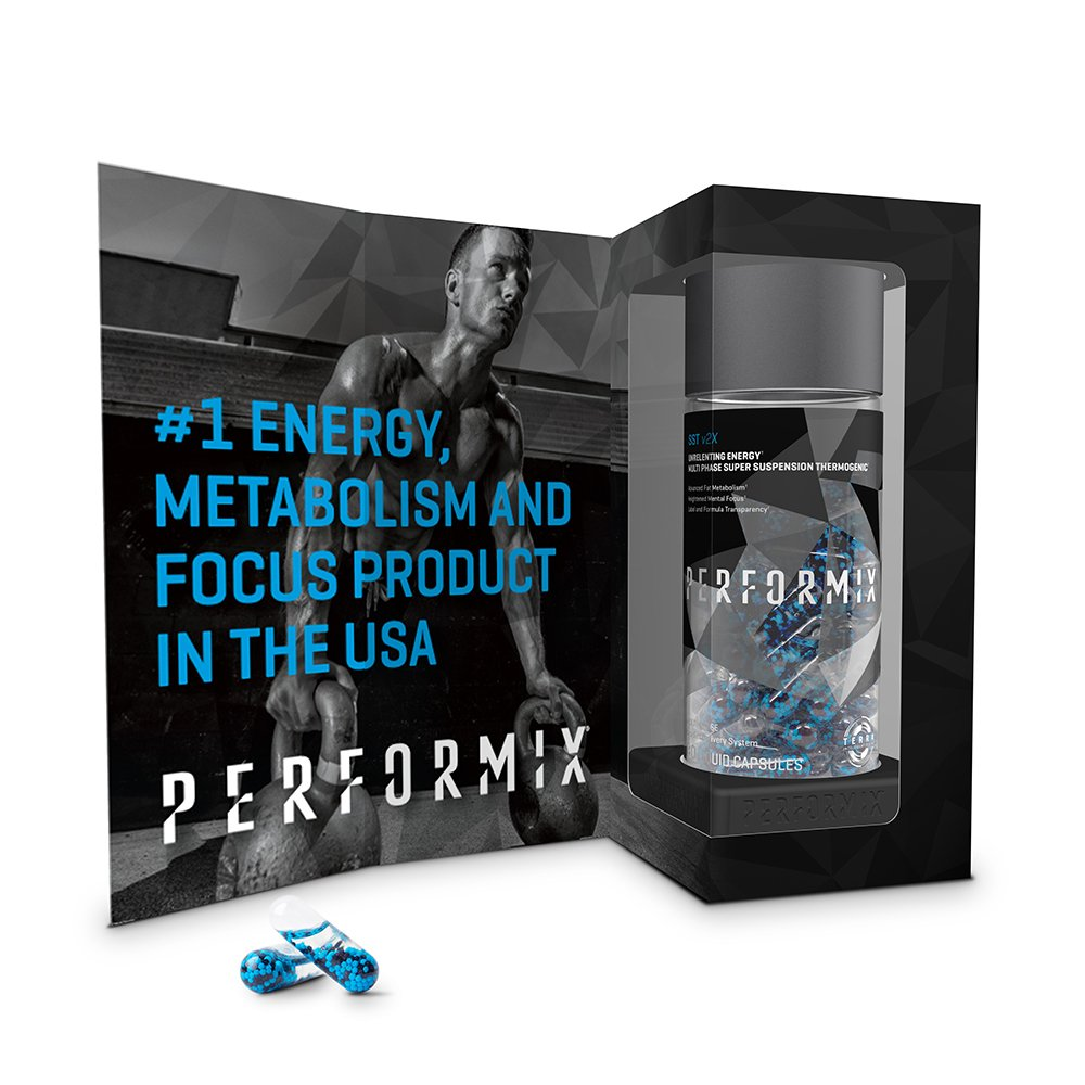 PERFORMIX SSTPERFORMIX SST v2X Suspension Super Thermogenic - 3 Patented Ingredients - Multi-Phase Release for Easy Absorption - Energy, Fat Burner, Mental Focus - 120 Capsules