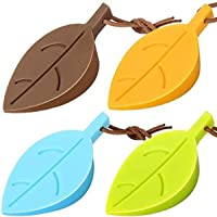 Silicone Door Stoppers Set - Leaf Style Rubber Stoppers Door Stopper Wedge Finger Protector Cute Door Stoppers with…