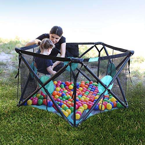 Milliard Playpen Portable Playard with Cushioning for Safety & Travel