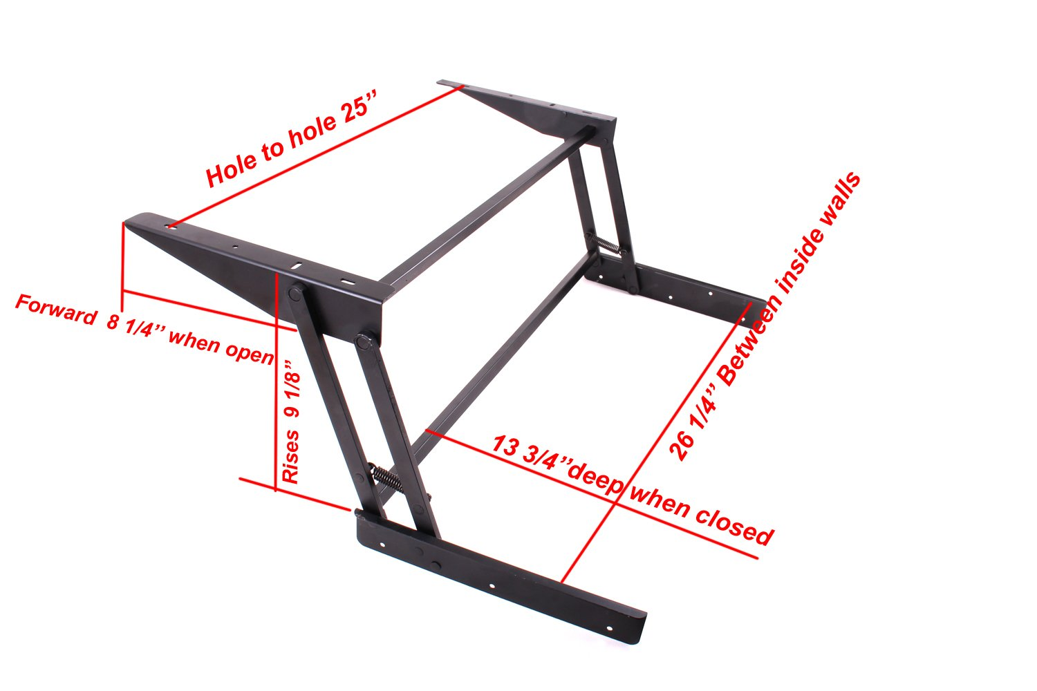 Beautiful Lift Up Top Large Coffee Table DIY Hardware Fitting Furniture Mechanism  Hinge Spring With Mounting Screws (Black)     Amazon.com