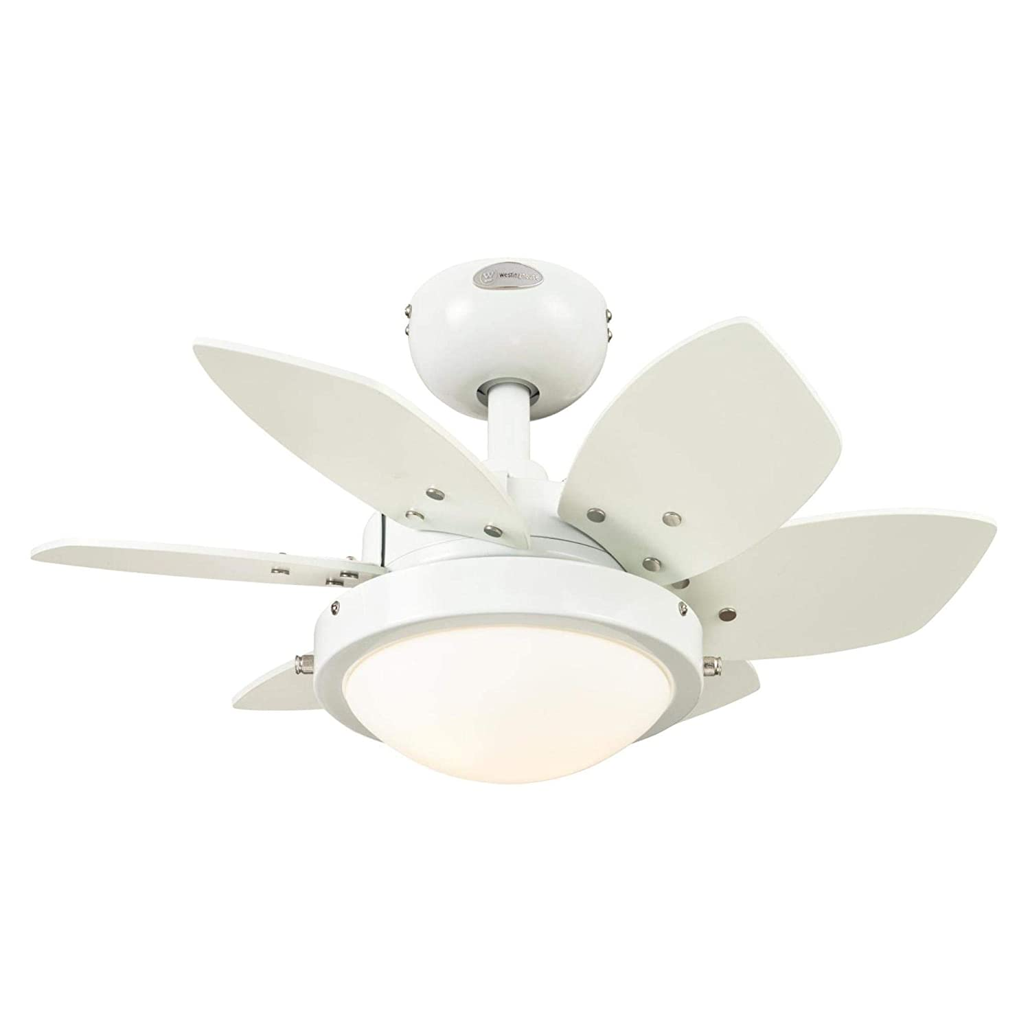 Westinghouse Lighting 7224700 Quince LED Ceiling Fan with Light, 24 Inch, White