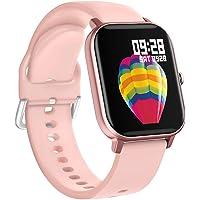 BINDEN Smartwatch P8 Oxímetro, Ritmo Cardíaco, Pantalla Touch, Multicarátulas, Salud y MultiDeportes iOS/Android, Rosa…
