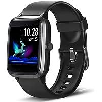 Lintelek Reloj Inteligente Mujer Hombre, Smartwatch con Monitor de Pasos, Calorías, Sueño y Ritmo Cardíaco, Reloj…