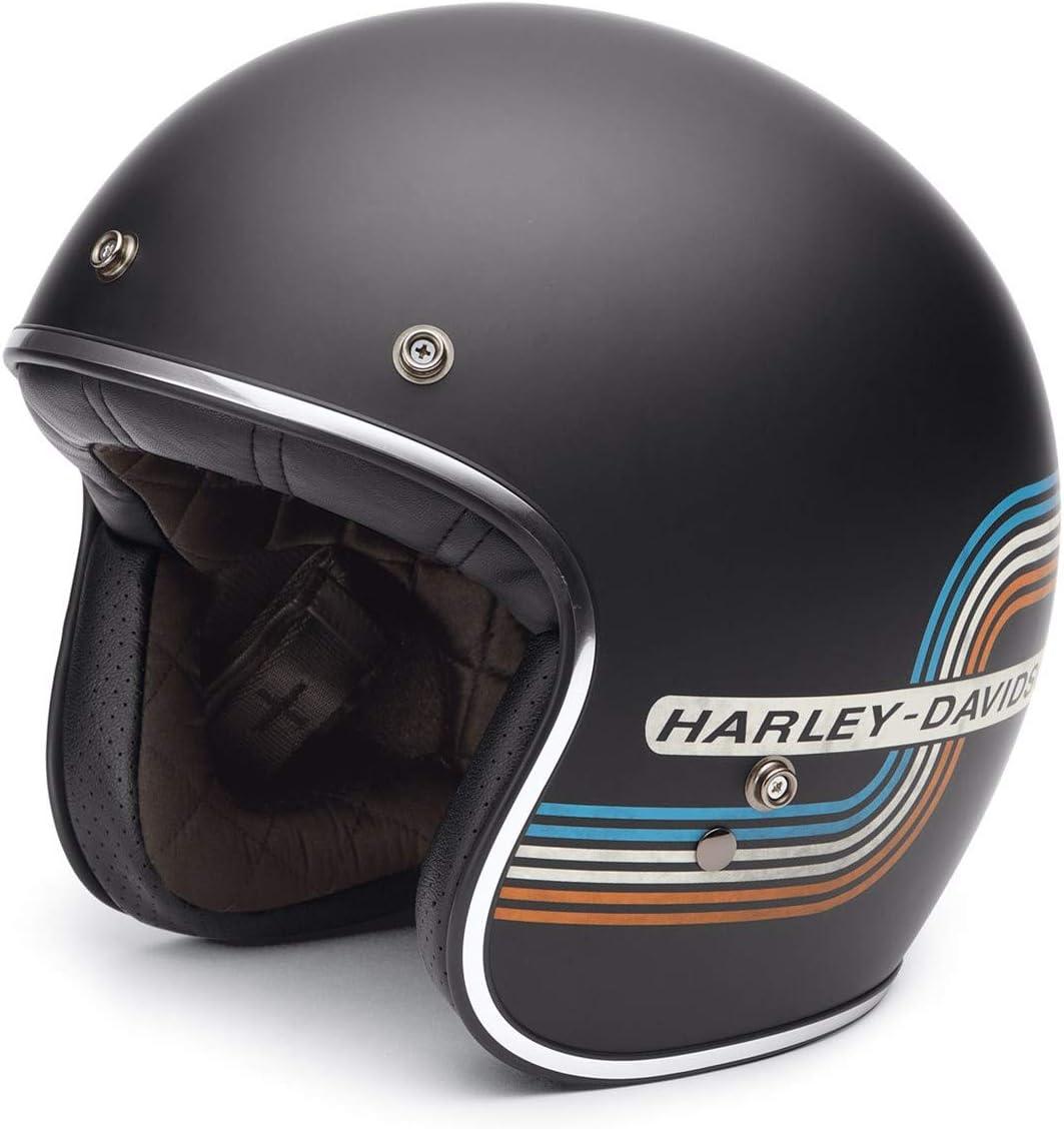XL Harley-Davidson 3//4-Helm Retro Tank Stripe