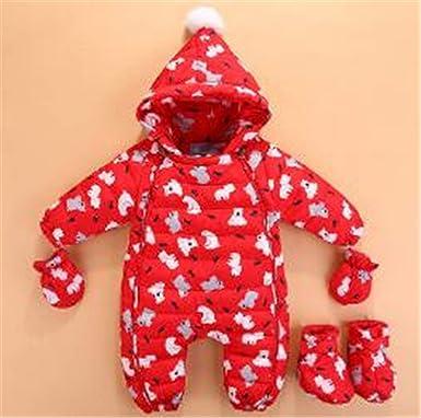 3f5aff4ce45c Amazon.com  Winter Baby Boys   Girls Romper Infant Baby Snowsuit ...