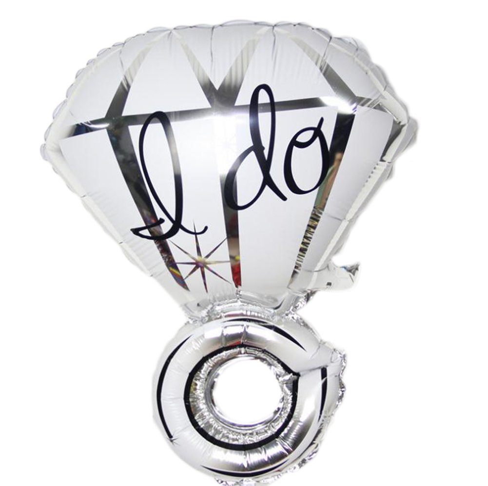 Da.Wa 1Pcs ''I do''Creative Diamond Ring Engagement Wedding Balloons Birthday Party Decor Balloons (Silver)