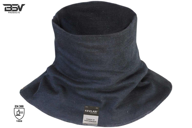 Kevlar Welding Neck Protection- Cut, Scratch & Heat Resistant Neck Gaiter, 100% Kevlar by DuPont- Protection for Men & Women (Black)