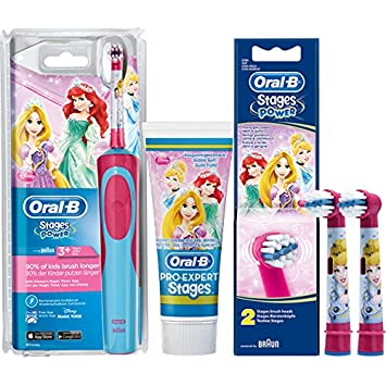 Oral-B Kids Disney Princess Niño Cepillo dental oscilante Multicolor - Cepillo de dientes eléctrico