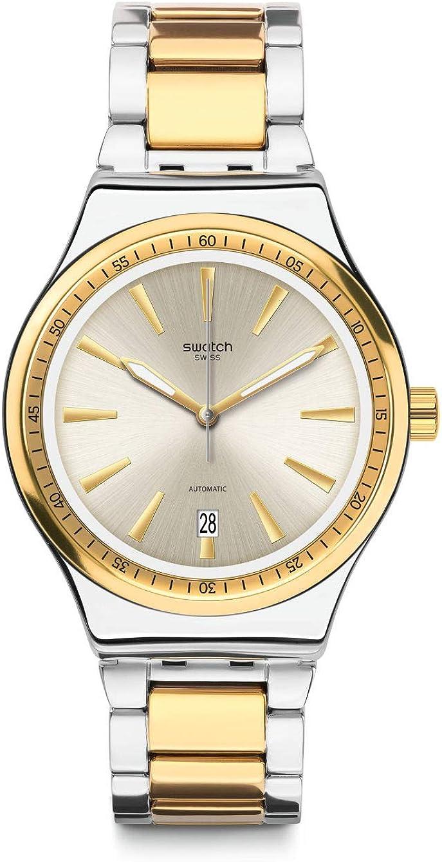 Swatch Reloj Analógico para Unisex Adulto de Cuarzo con Correa en Acero Inoxidable YIS429G