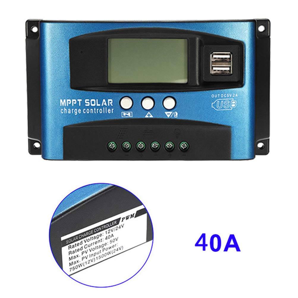ASOSMOS 100A MPPT Solar Panel Regulator Charge Controller 12V//24V Auto Focus Tracking Device