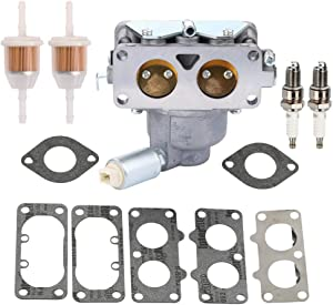 FQFP 791230 Carburetor for Briggs & Stratton 799230 699709 499804 V-Twin 20HP 21HP 23HP 24HP 25HP Models MIA10632 with Gasket Fuel Filter Spark Plug