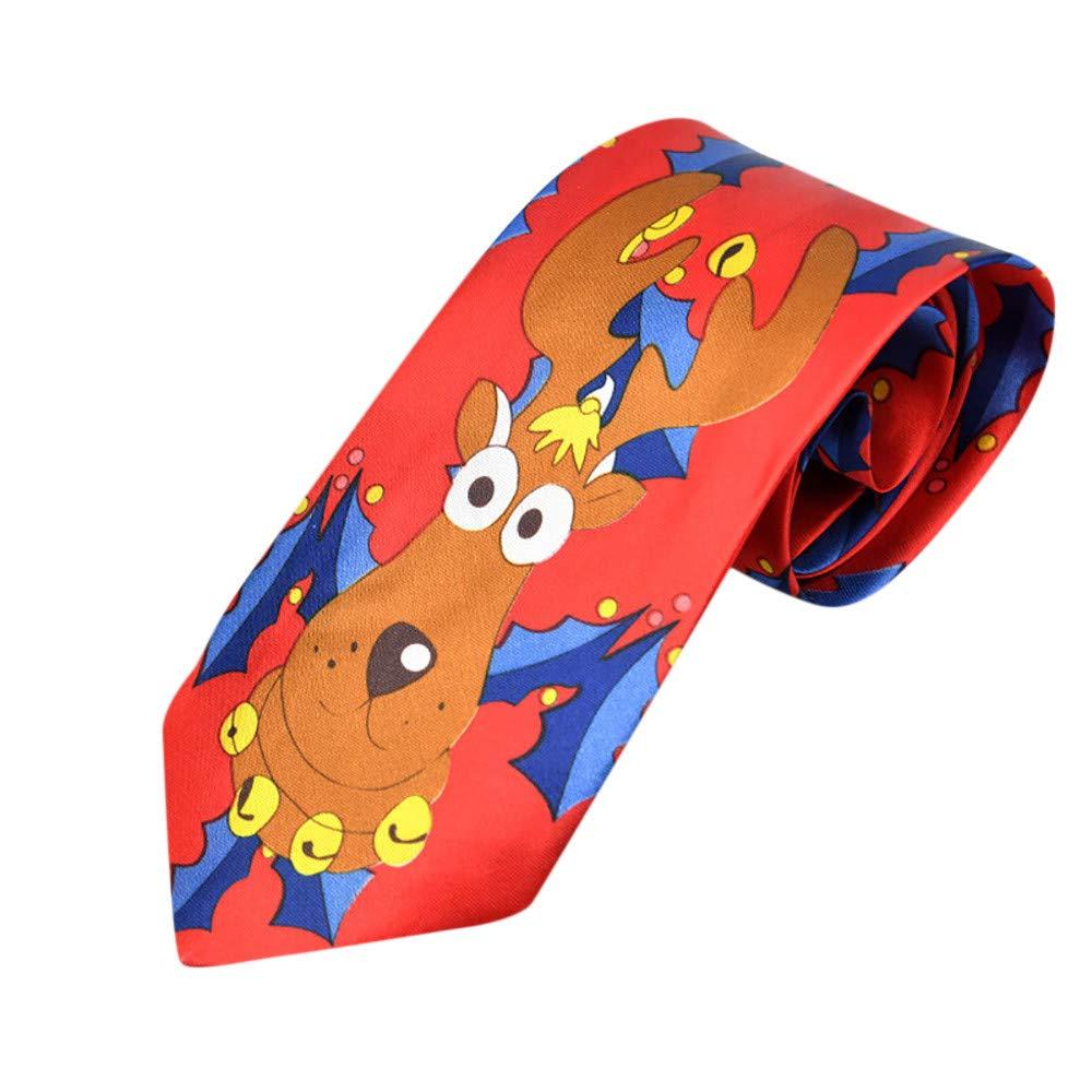 Start Mens Solid Necktie Business Suit Slim Neckties Casual Wedding Ties (Chirstmas B)