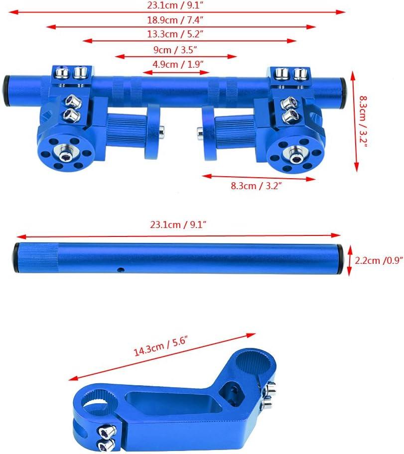 Black Qiilu 7//8 22mm Adjustable CNC Motorcycle Steering Handlebar System for 125cc Pit Bike Dirt Bike ATV