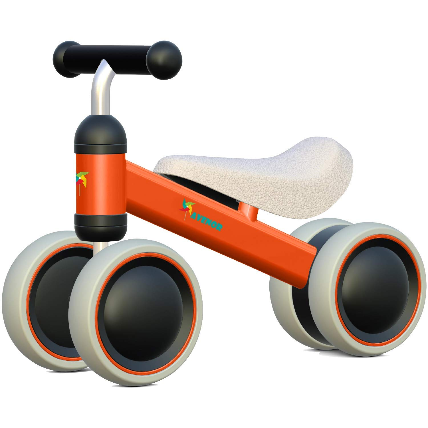 Avenor Baby Balance Bike - Baby Bicycle for 6-24 Months, Sturdy Balance Bike for 1 Year Old, Perfect as First Bike or Birthday Gift, Safe Riding Toys for 1 Year Old Boy Girl Ideal Baby Bike (Orange)