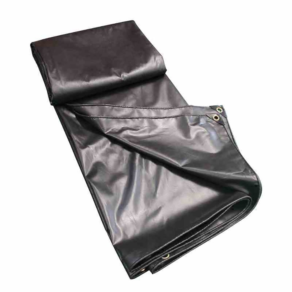 Tarpaulin Tarpaulin Heavy Duty Tent Awning Sun Shade Thicken Waterproof Rainproof Trap Ground Sheet Truck Covers Shed Cloth Preservative Anti-aging-Black,420G/M² (Size : 22m)