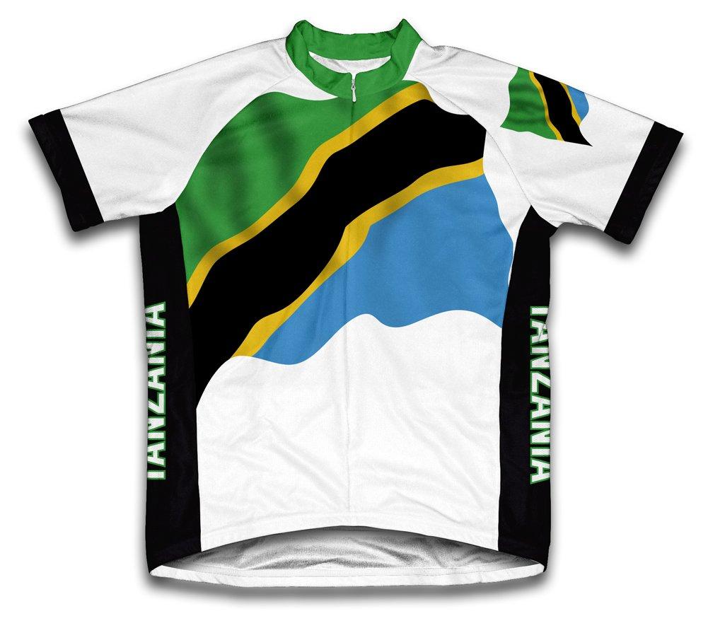 Tanzania Flag Radsport Trikot mit kurzer Ärmel für Menner