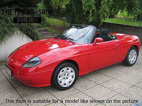 Para Fiat Barchetta 1995/ /2005/Manual Gear polainas Cuero Negro con Costuras Rojas