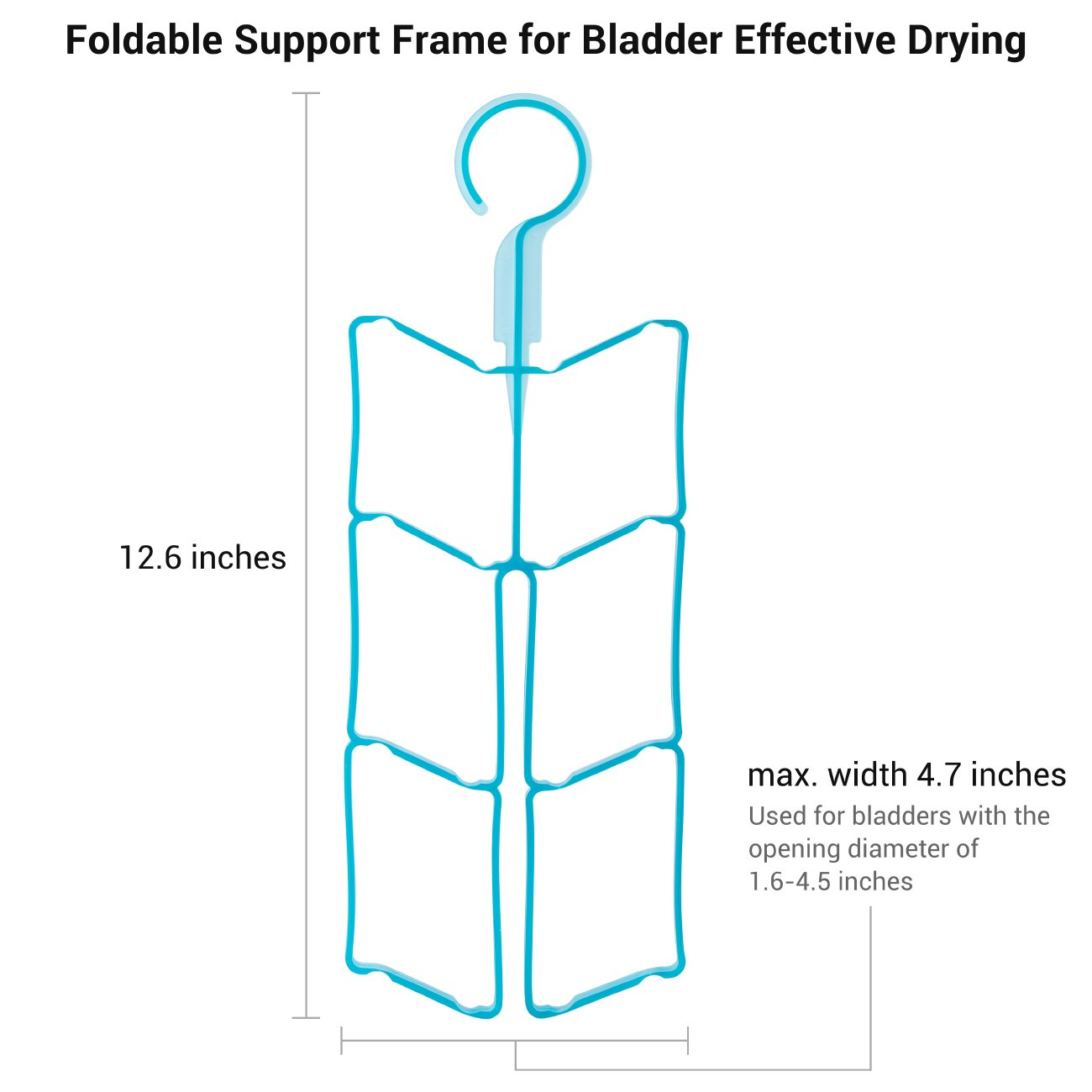 Foldable able support frame for drying