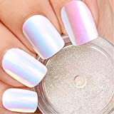 #7: PrettyDiva Unicorn Nail Powder Mermaid Aurora Pigment Neon Iridescent Powder for Nail Art