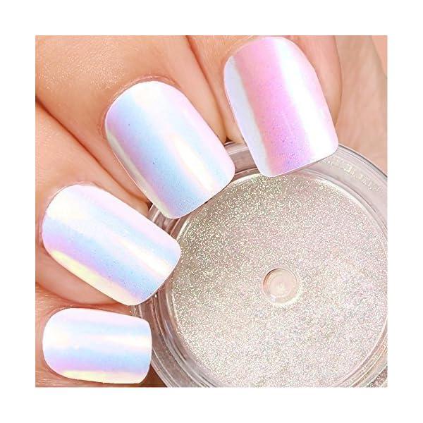 PrettyDiva Chrome unicorn nail powder 3