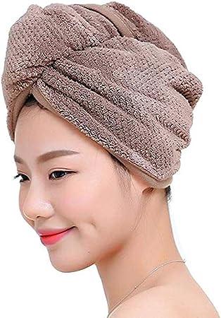 Oferta amazon: Fyore Ultra Absorbente Turbante para el Cabello Toalla de Secado rápido Anti Frizzy Microfibra Diseño Mujeres (café)