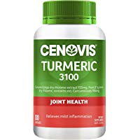Cenovis Turmeric 3100 - Traditionally used to: Relieve mild joint pain - Support liver health, 80 Capsules