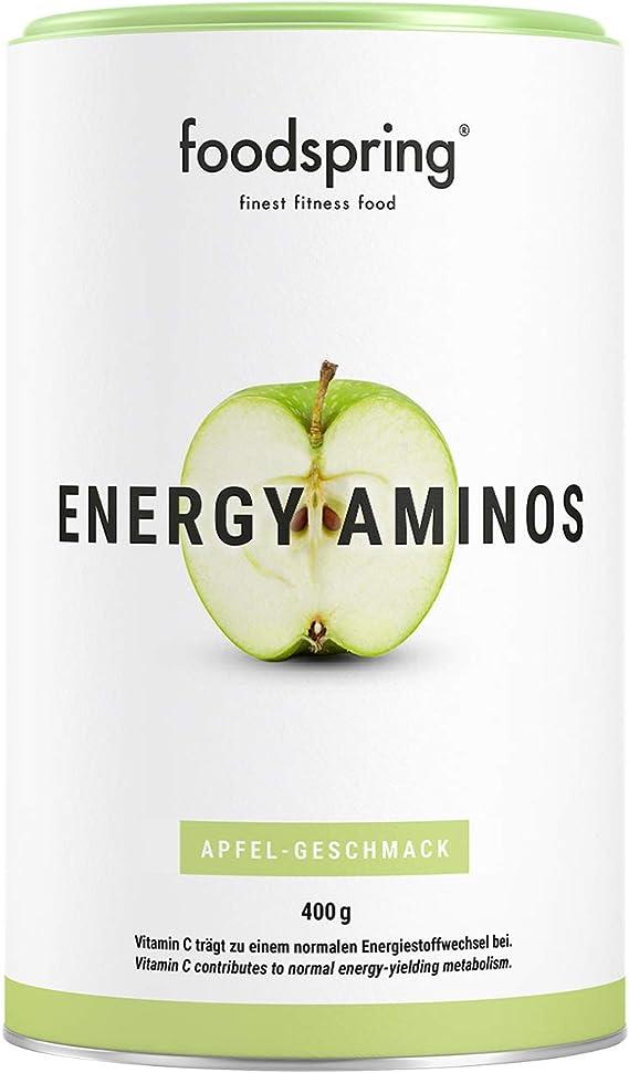 foodspring Energy Aminos, 400g, Sabor Manzana,Bebida pre ...