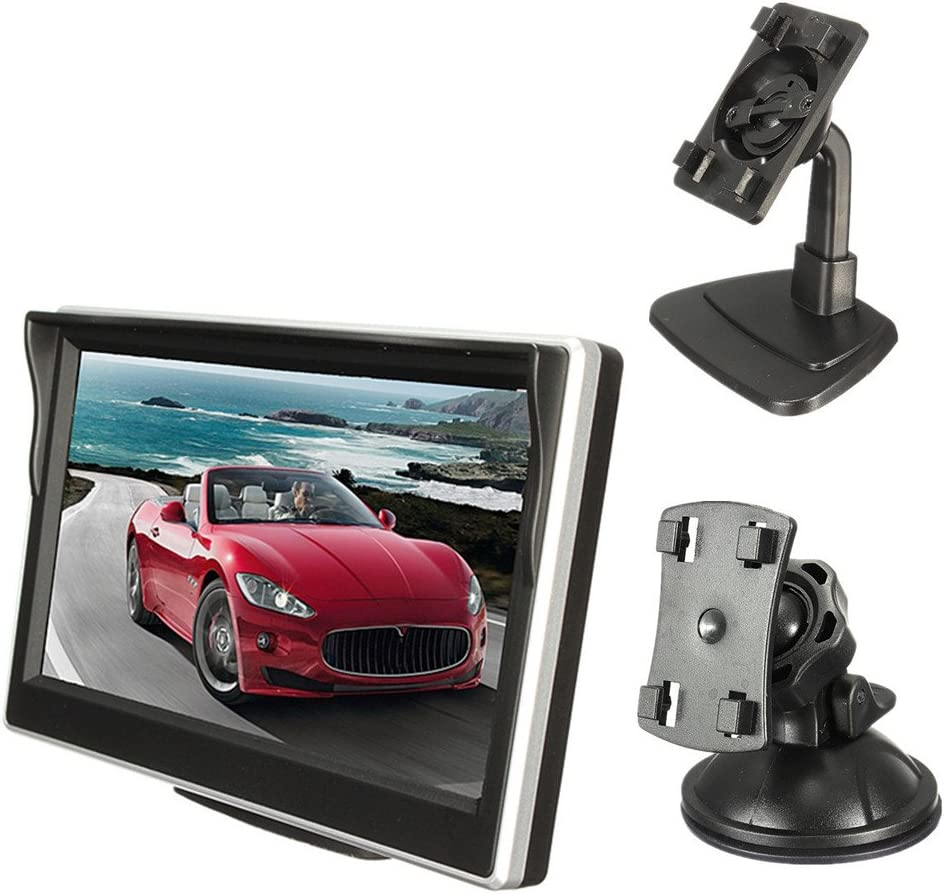 Geetobby Car Dash Cam Driving Video Recorder HD Screen Monitor for Car Rear Rearview Backup Camera