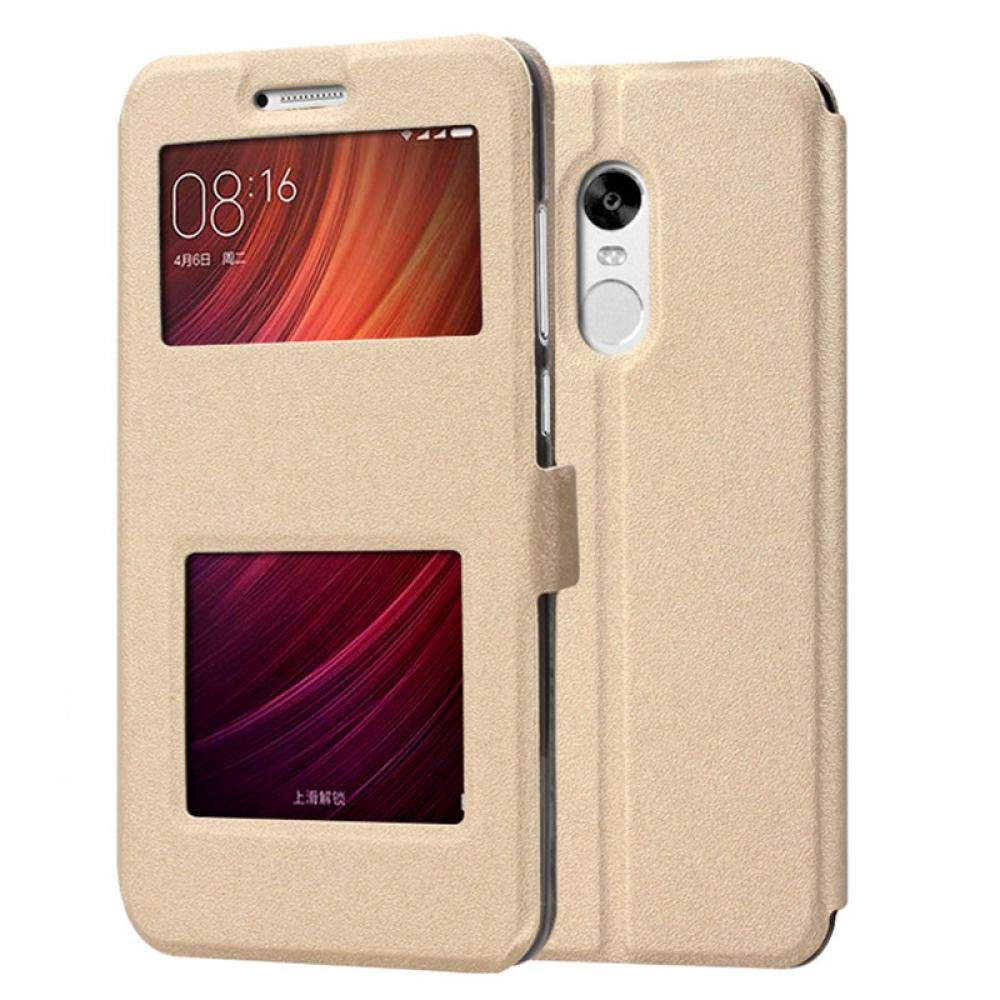Amazon.com: Luxury Smart Front Window View Leather FILP Case ...