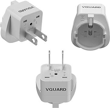 VGUARD Adaptador Enchufe Universal, 3X Convertidor Adaptador de ...
