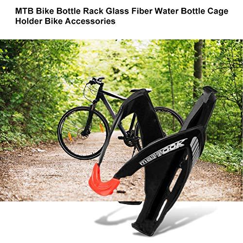 Justdodo MTB Bike Road Bike Portabottiglie Portaborraccia in Fibra di Vetro Portabottiglie portabottiglie portabottiglie portabottiglie Accessori per Biciclette Nero