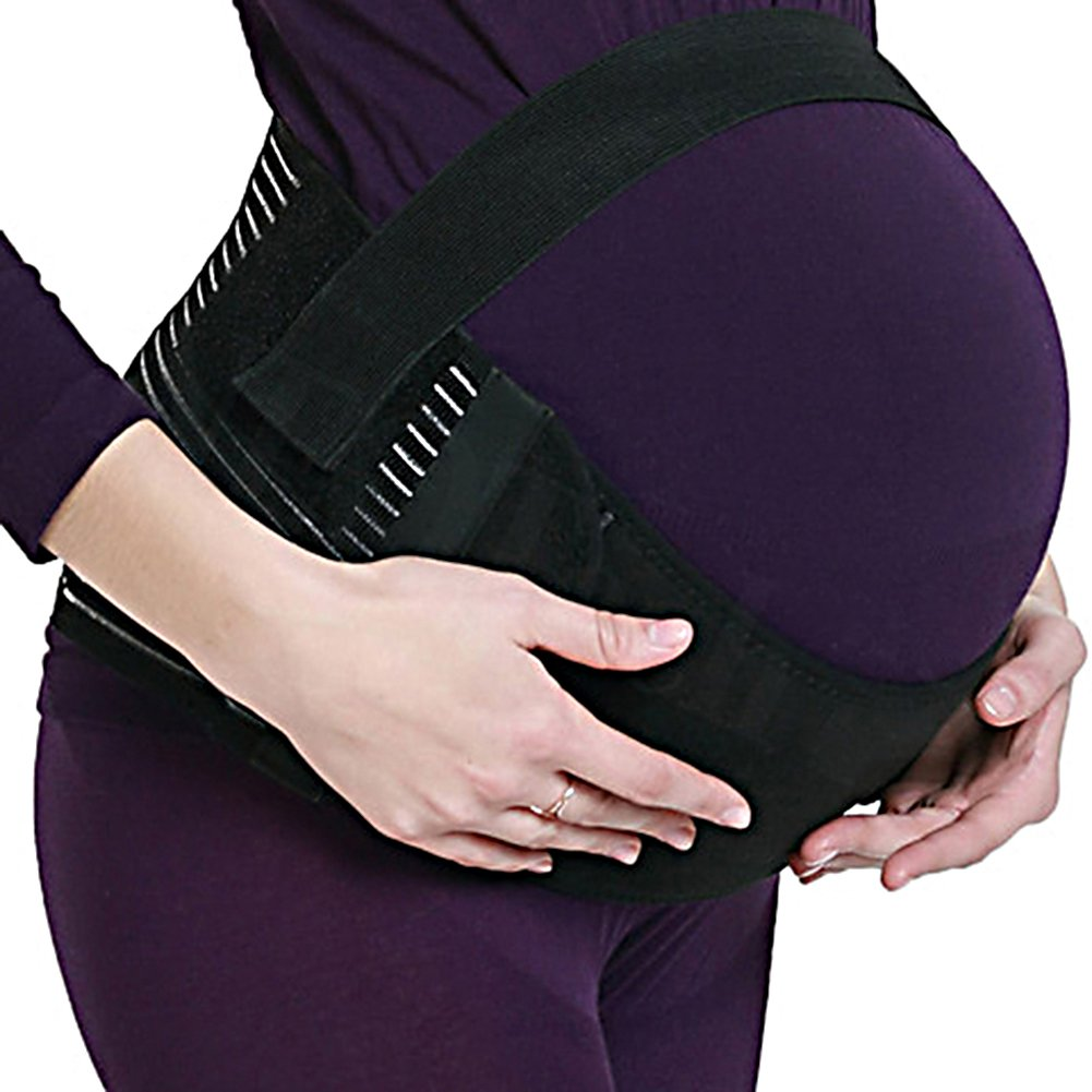 Maternity Pregnancy Support Belt Pregnancy Abdomen Belly Back Bump Brace Strap Black Super Junior
