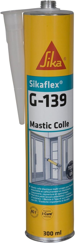 Sikaflex G 139 Mastic Colle à Prise Rapide 300ml Noir