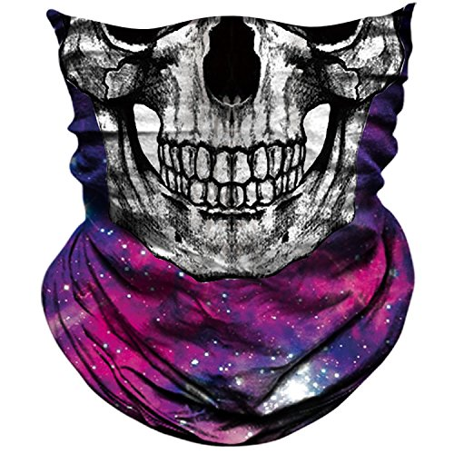 AXBXCX Skull Skeleton Outdoor Face Mask Bandana Neck Gaiter - Microfiber Polyester Seamless Headwear Dust Music Festivals Raves Ski Motorcycle Snowboard Cycling Halloween Party Cosplay Ghost Mask 039