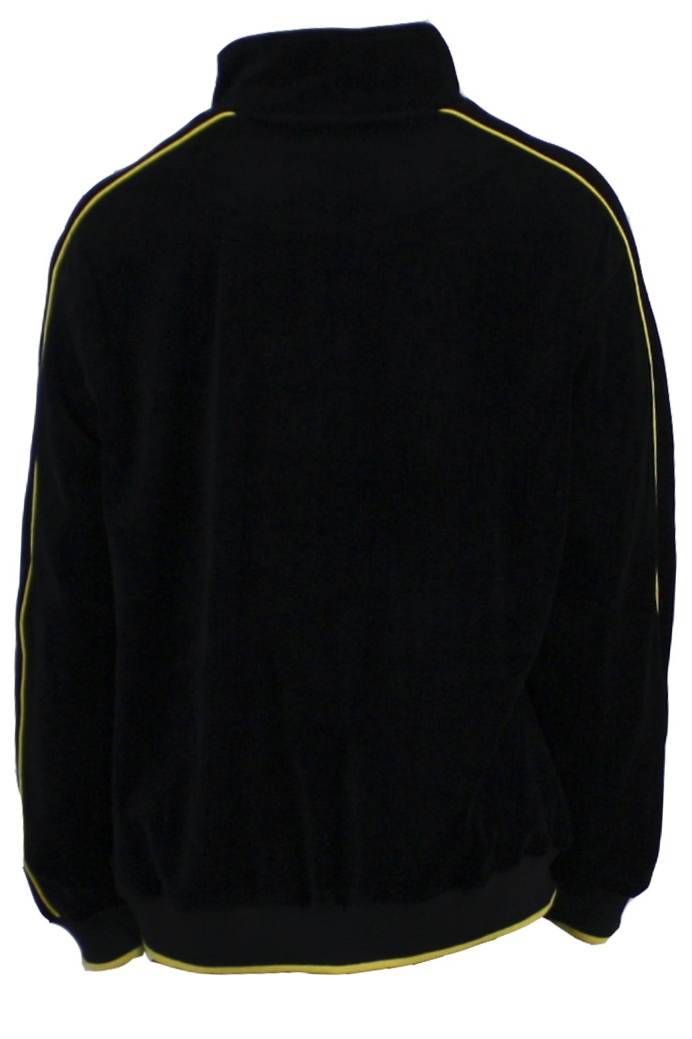 Mens Black Velour Tracksuit with Yellow Piping (Large) by Sweatsedo (Image #4)