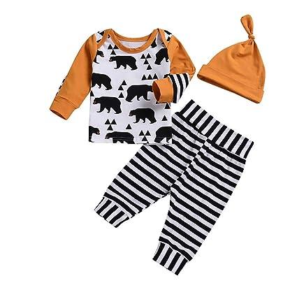 b92bb0c6d5c7 Amazon.com  Fheaven (TM) 3Pcs Newborn Infant Baby Boy Clothes ...