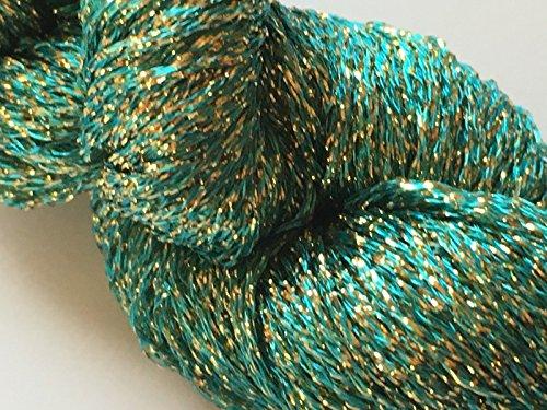 Sea Gold Metallic Carry-Along Yarn - Knit One Crochet Too 18 Karat #535 25 Gram 225 Yards