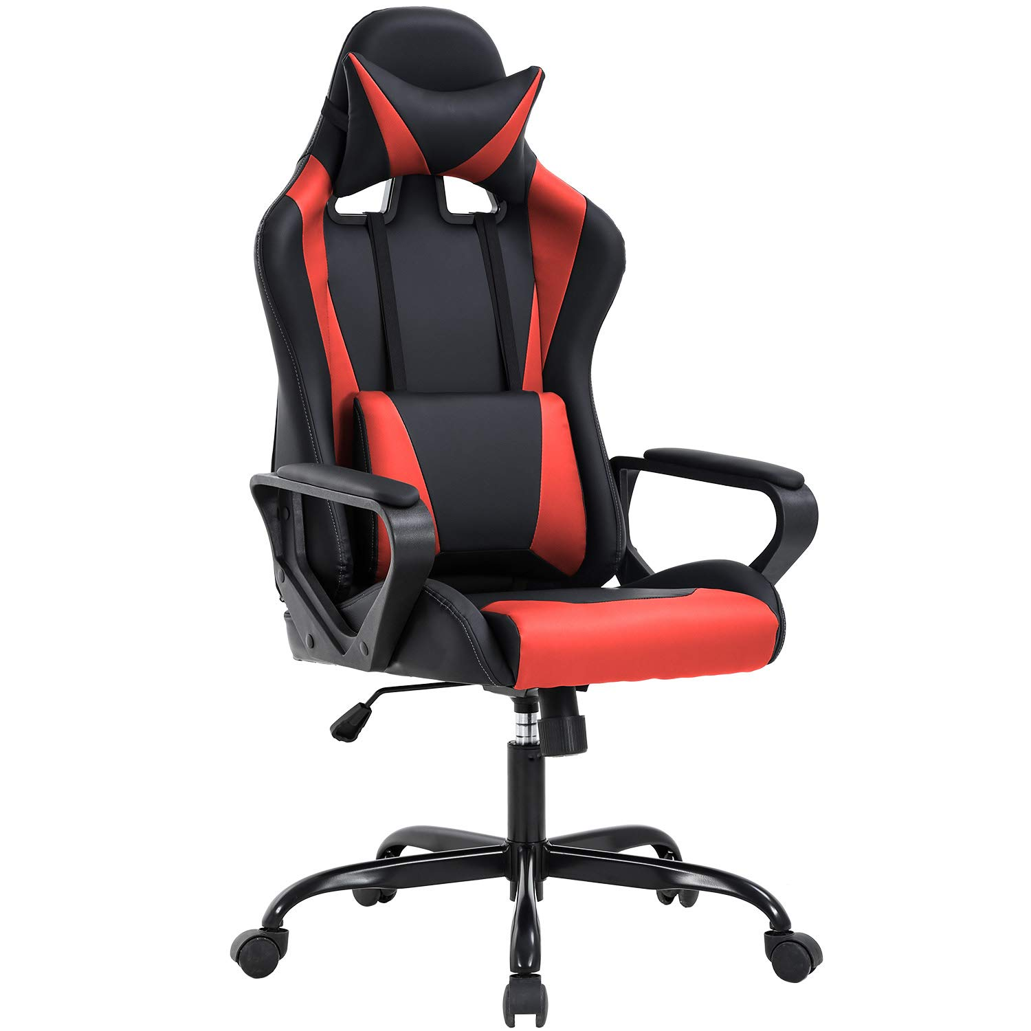 High-Back Gaming Office Chair Racing Style Computer Desk Chair Ergonomic Executive Swivel Rolling Chair with Lumbar Support for Women, Men(Red) by BestOffice