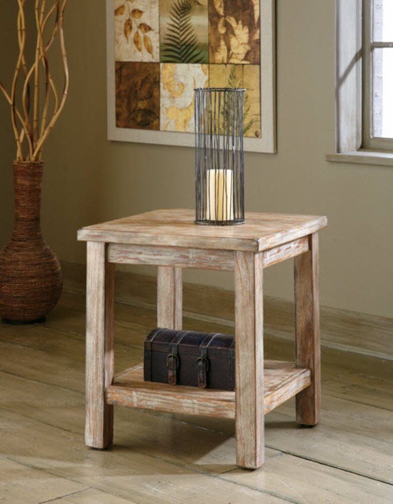 Amazon.com: Ashley Furniture Signature Design   Vintage Chair Side End Table    Rustic Brown: Kitchen U0026 Dining