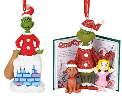 Enesco Dept 56 How The Grinch Stole Christmas Ornament Bundle: Into The  Chimney Sound and - Amazon.com: Enesco Dept 56 How The Grinch Stole Christmas Ornament