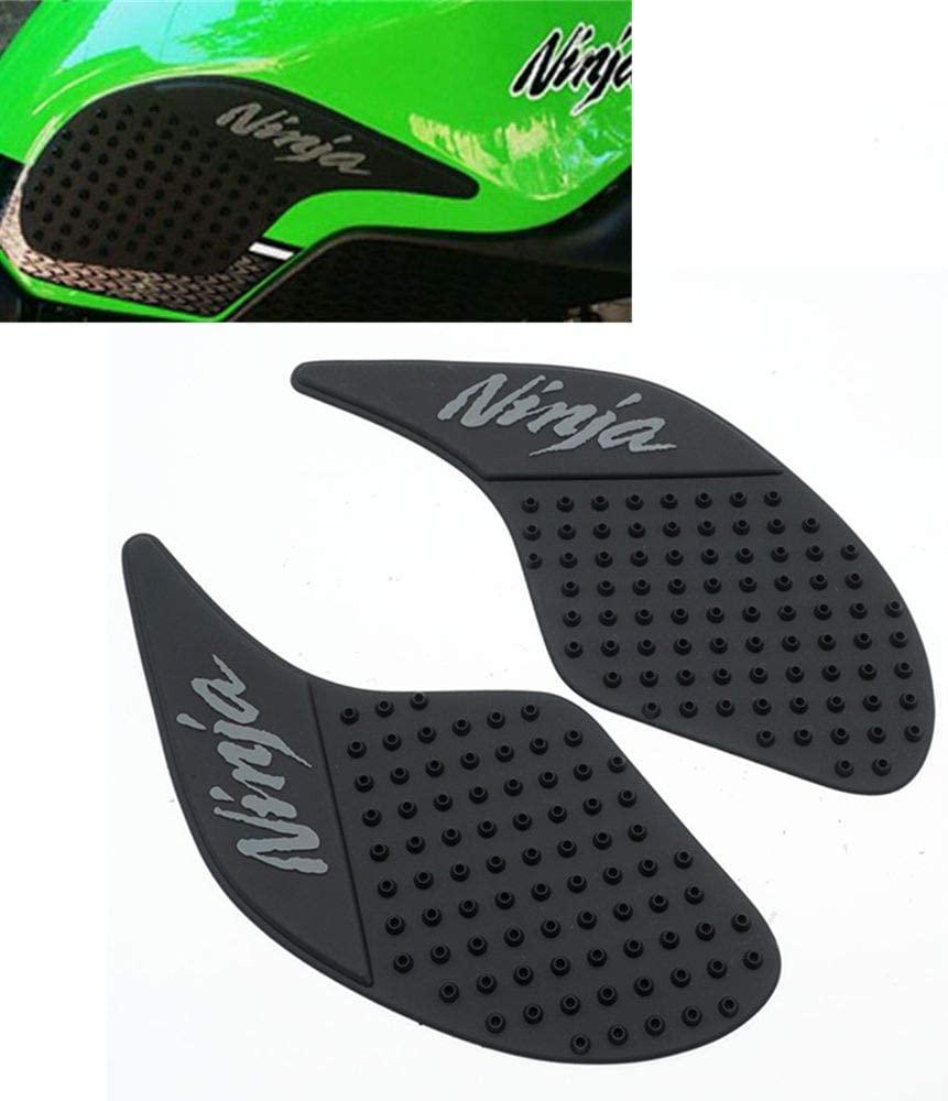 Elec-bro Motorcycle Gas Tank Pad Gas Fuel Knee Grip Decal Protector Traction Side Pads For Kawasaki Ninja 250 300 2008-2016