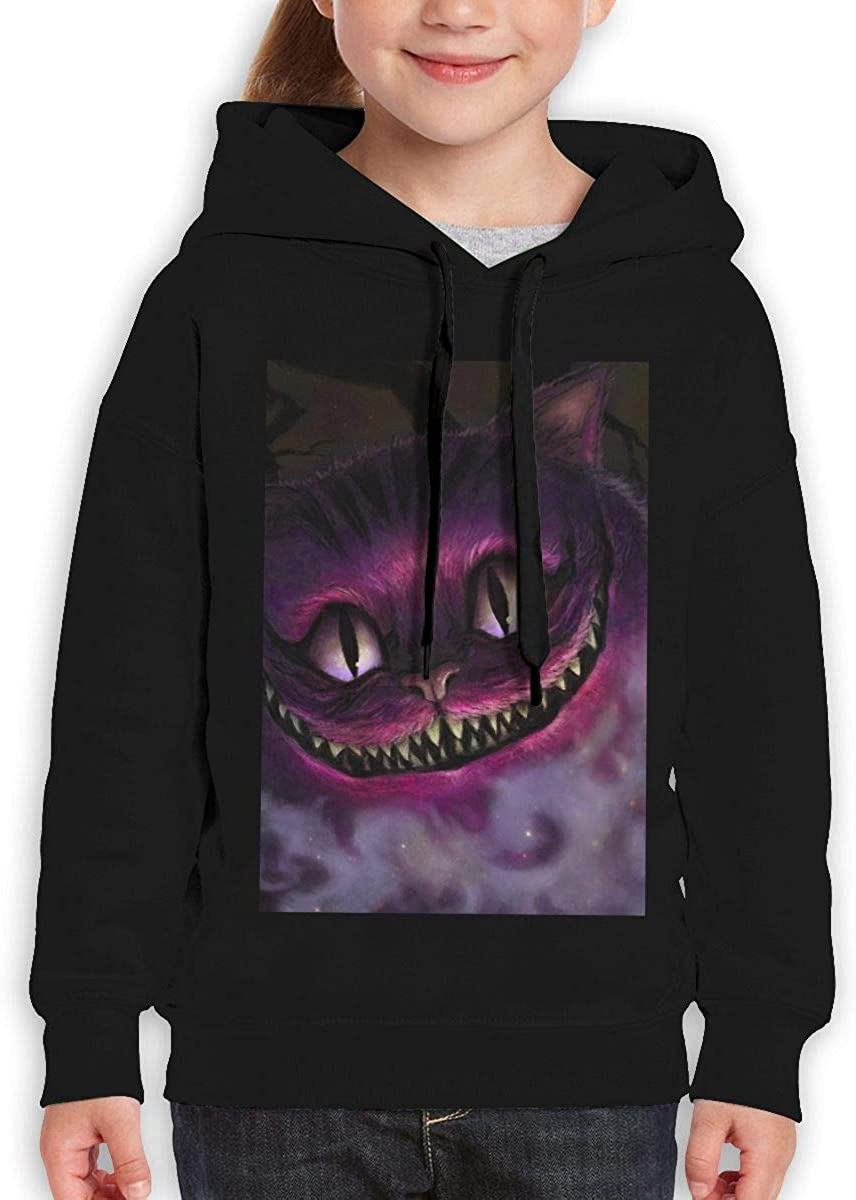 Guiping Cheshire Cat Teen Hooded Sweate Sweatshirt Black