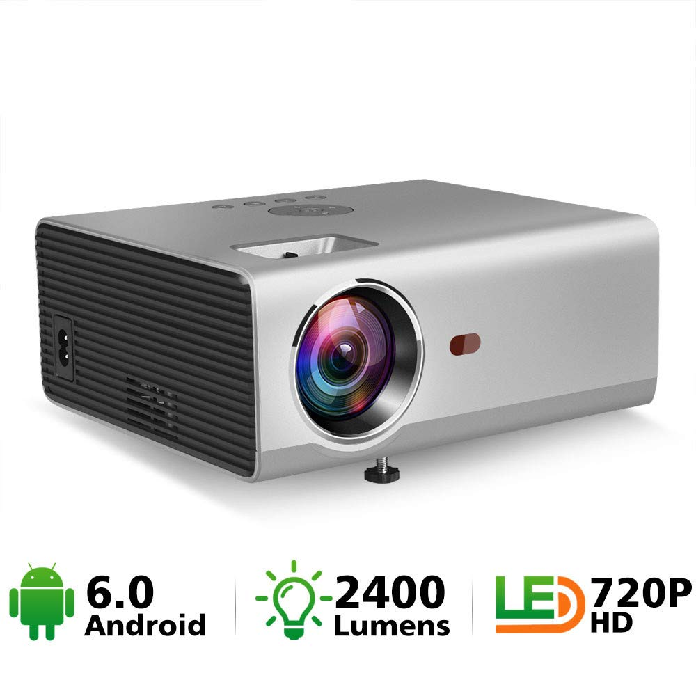 Mini proyector Native 1280 X 720p Led WiFi Proyector Android 6.0 ...